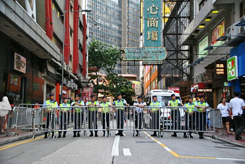 On Duty Force The Photojournalist - 2015 EyeEm Awards Hongkonger Hong Kong Police at 71大遊行