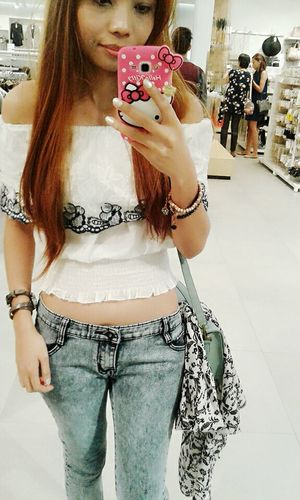 Hello World Its Me Ootd Casual Look Off Shoulder Top CropTop Slingbag Girly Things  Selfiemirror Casual Clothing Casualstyle Simplicity Keeping It Classy Looking Cute Express Yourself ❤ Be Yourself Me Time ♥ My Blog http://jennyfashionillustration.jimdo.com