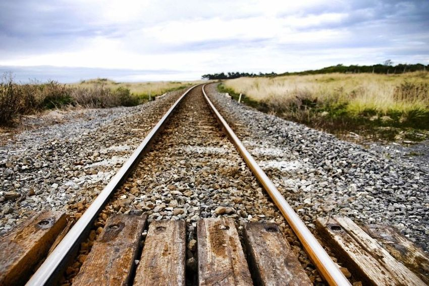 Main trunk line to Kaikoura no more. Tracks Ruined Day Disaster Earthquake Field Kaikoura New Zealand Landscape Nature No People Outdoors Rail Transportation Railroad Track Rain Scenics Sky The Way Forward Transportation