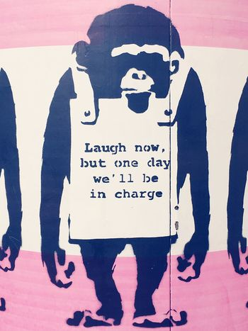 🙊🙉🙈 Text Front View Resist The Secret Spaces No People Wall EyeEm Gallery EyeEmNewHere EyeEm Outdoors Travel Communication Art Pink Monkey Outdoor Photography Wall Art Streetphotography Streetart