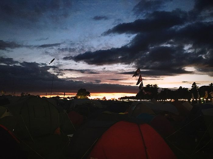 Sky Atmosphere Outdoors Cloud Tourist Resort Sunset Tent Camping WOMAD
