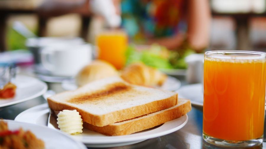 Food And Drink Food Focus On Foreground Breakfast Freshness Bread Table Sweet Food Indoors  Close-up Healthy Eating Ready-to-eat Toasted Bread One Person Day