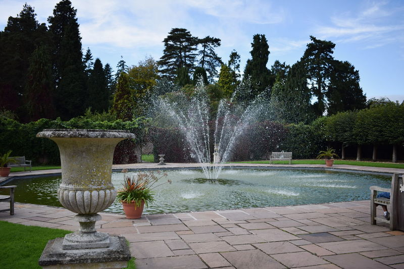 Beauty In Nature Day England Flower Fountain Fountain Freeze Shots Gardens Growth Nature No People Ornaments Outdoors Park Plant Shadow Sky Splashing Spray Spraying Tranquility Tree Water Water Feature Yard