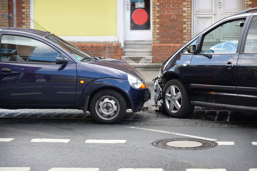 Accident Auto Automobile Car Car Crash City Collision Compact Car Day Fender Bender Germany No People Small Car Street Traffic