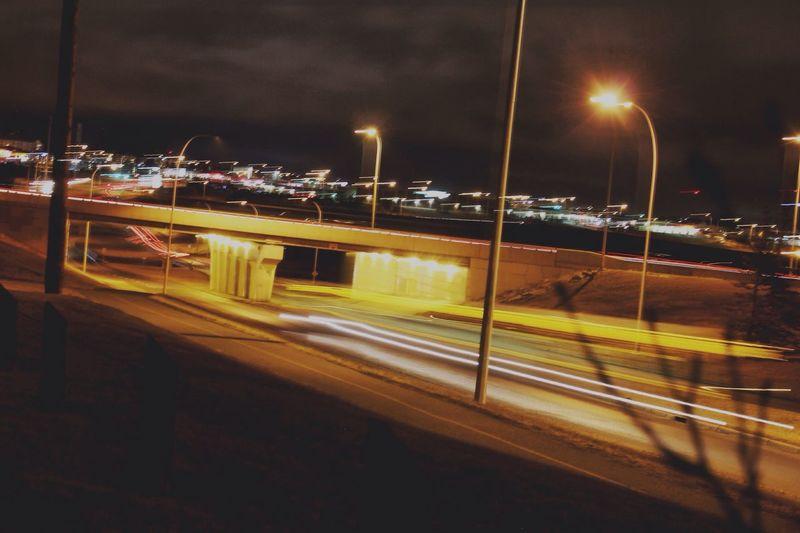 Night Lights Night Traffic Road Nightimephotography