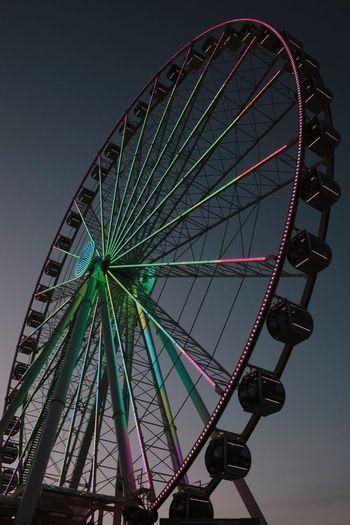 Ferris Wheel Ferris Wheel Amusement Park Arts Culture And Entertainment Low Angle View No People Amusement Park Ride Big Wheel Day Outdoors Sky