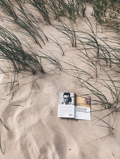 Reading Book Sand Land Text Beach No People Communication Day Nature Outdoors Western Script High Angle View Sunlight Full Frame Number Information Sign Still Life Close-up Backgrounds Business Finance And Industry