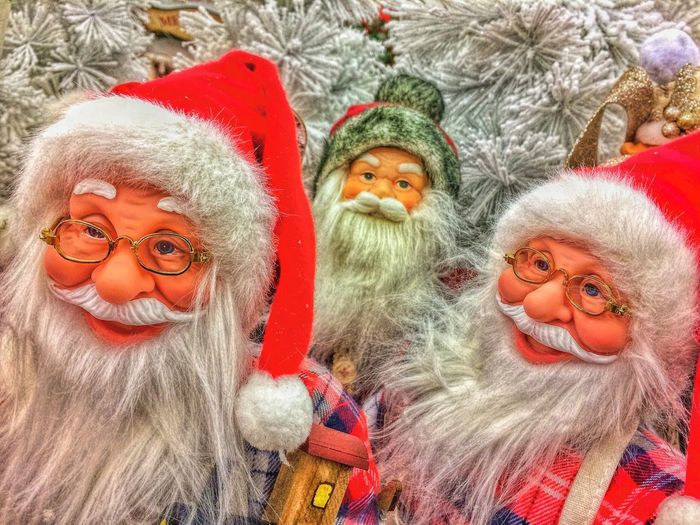 Merry Christmas... Christmas Looking At Camera Portrait Christmas Decoration No People Close-up Day Outdoors Santa Claus Father Christmas Chris Kringle Decoration Ornaments Red EyeEm Vision EyeEm EyeEm Best Shots IPhoneography Iphoneonly Kris Kringle