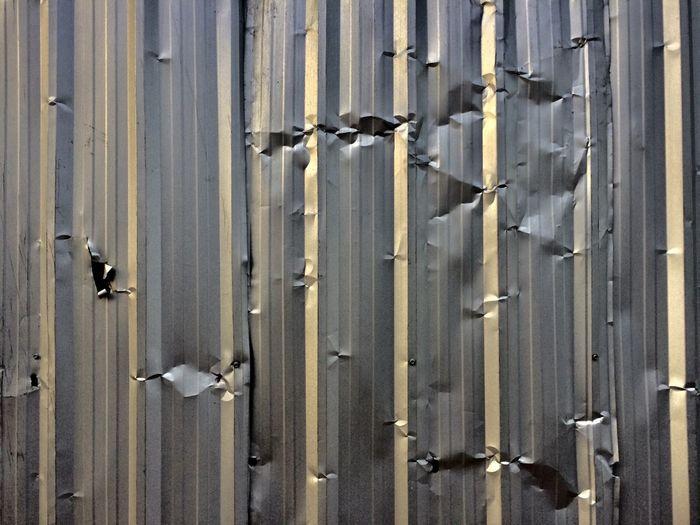 Full frame shot of damaged metal
