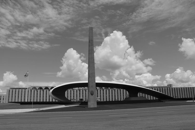 Architecture Architecture Architecture_collection Black & White Black And White Blackandwhite Blackandwhite Photography Brasil ♥ Brasília Built Structure Cloud Cloud - Sky Clouds And Sky Cloudy Diminishing Perspective Battle Of The Cities Hidden Gems  My City My Other Home  No People Oscar Niemeyer Quartel General Sky Sky And Clouds Tranquility The Architect - 2018 EyeEm Awards