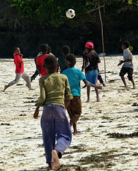 Football Fever Zanzibar Tanzania Africa People Watching People Football Beach Ball Children The Photojournalist - 2016 EyeEm Awards Childsplay Travel Traveling