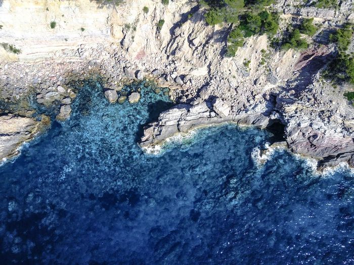 Drone  Mallorca SPAIN Beauty In Nature Day Geology High Angle View Hot Spring Nature No People Outdoors Physical Geography Scenics Tranquility Water Waterfront