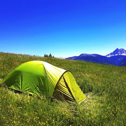 Beauty In Nature No People Mountain Sky Outdoors Tent Camping Campinglife