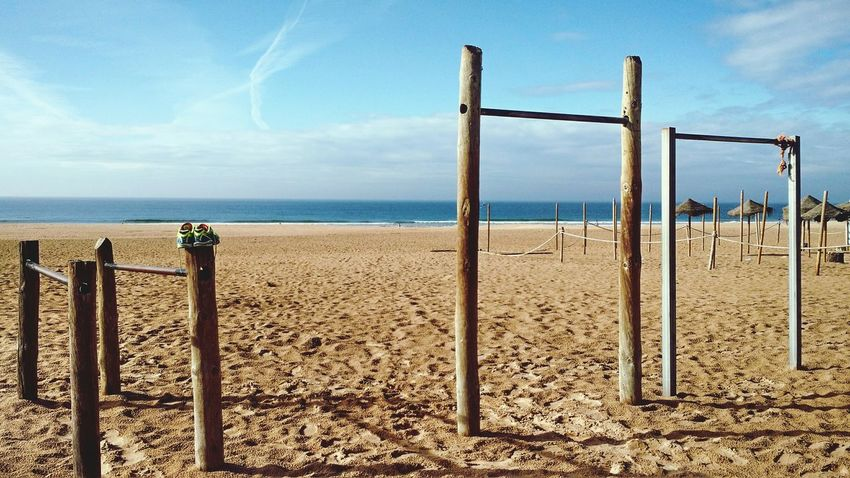 Sea Beach Outdoors Sky Horizon Over Water Day No People Nature Scenics Sand Jungle Gym Bar Water