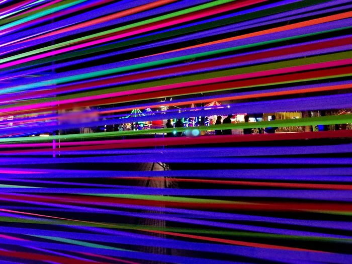 Nightphotography Nightfair Multi Colored Illuminated Motion No People Futuristic Night Outdoors Singapore Leica_camera Lifestyles Beautiful Indoors  City Marina Bay Sands
