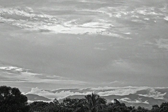 Nature In Black & White Mountains Sky And Clouds Nature_collection Trees Serra Da Mantiqueira Pindamonhangaba Brazil