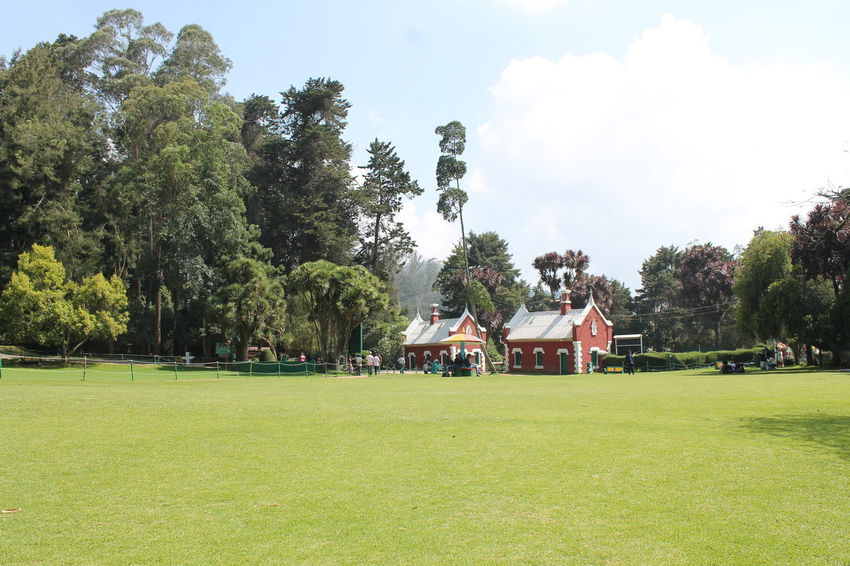 A botanical garden in Coonoor, Tamilnadu, India Cloud - Sky Day Environment Field Grass Green Color Group Of People Growth Land Landscape Nature Outdoors Park Park - Man Made Space People Plant Real People Sky Sport Tree