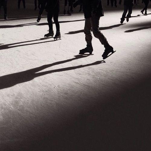 Skating Ice Skating People Watching Blackandwhite