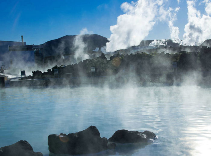 Beauty In Nature Day Erupting Geology Geyser Hot Spring Lake Landscape Nature No People Outdoors Power In Nature Rock - Object Scenics Sky Smoke - Physical Structure Sulphur Travel Destinations Water