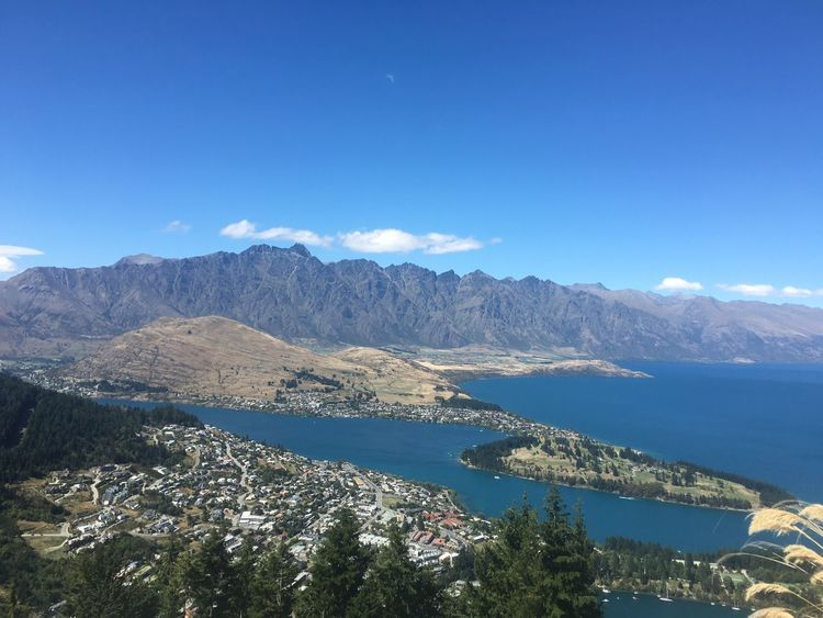 View of Queenstown, NZ Scenic Lookout Kiwi Life Blue Scenics Beauty In Nature Landscape South Island New Zealand Tranquil Scene Outdoors