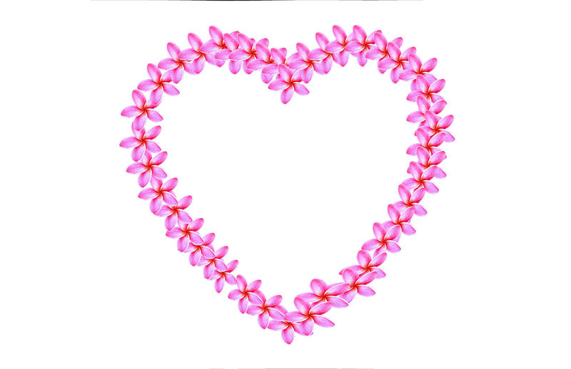 Directly above shot of heart shape against pink background