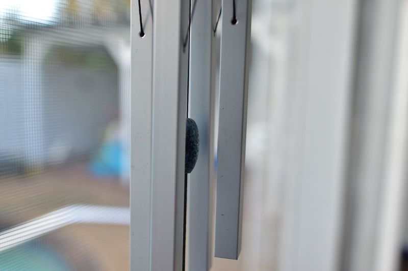 Chimes Pool Deck Patio Screen Wind Chimes EyeEm Selects Safety Close-up No People Security Window Metal Silver Colored