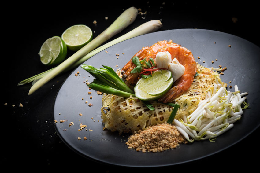 Thai Cuisine Asian Cuisine Food Styling Thai Menu Thai Cuisine Artistic Food Authentic Thai Food Close-up Food Food And Drink Freshness Healthy Eating Indoors  No People Phad Thai Ready-to-eat Thai Food