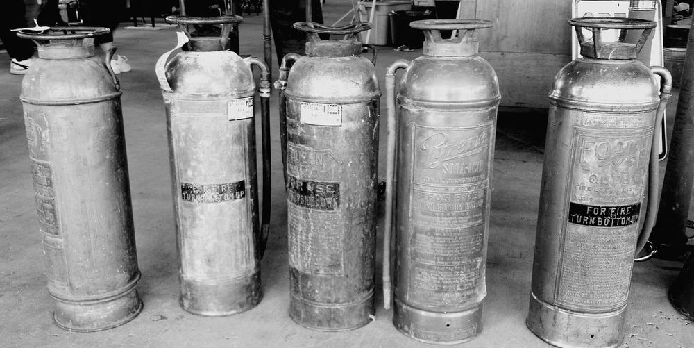 Fire extinguishers in factory