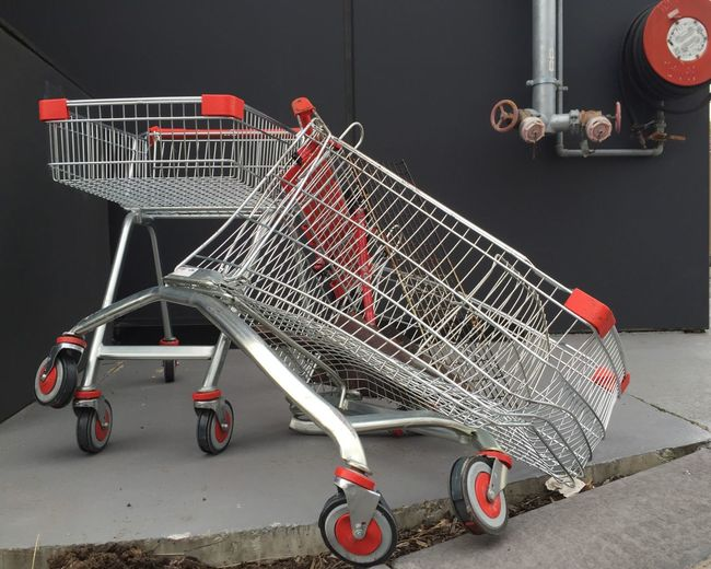 Shopping Cart Left Empty At Parking