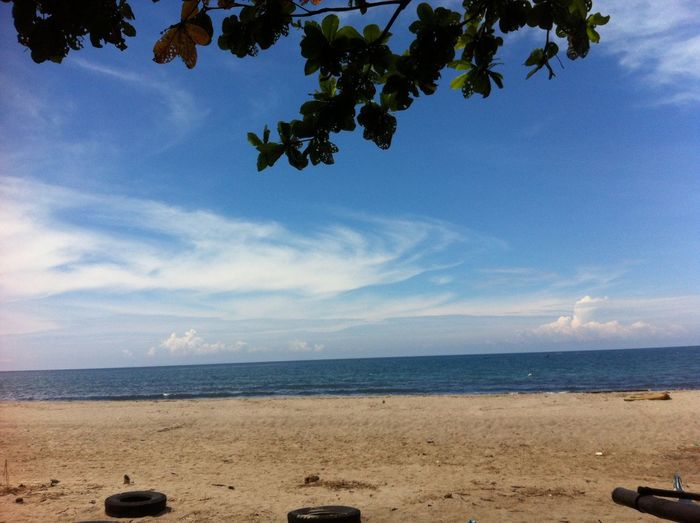 Beach Sand Sea Sky Horizon Over Water Day Water Nature Cloud - Sky Outdoors Scenics Beauty In Nature Tranquility