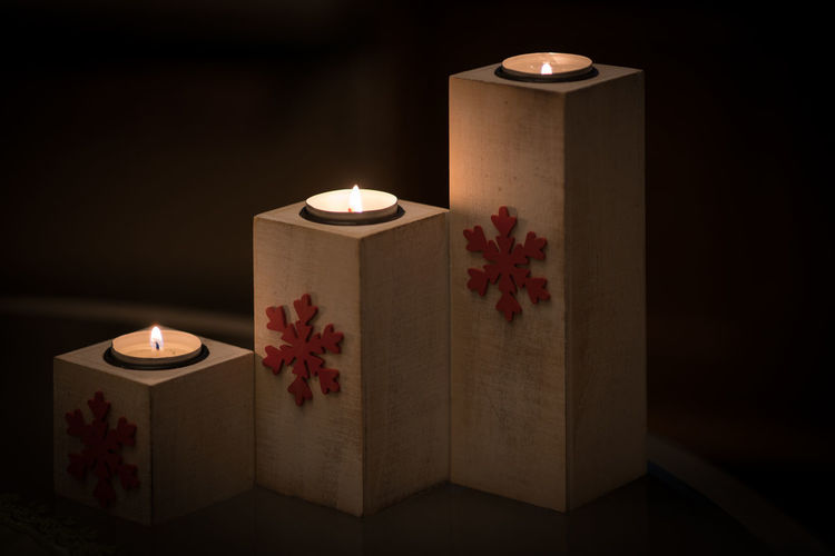 Box - Container Burning Candle Candlelight Celebration Flame Gift Indoors  Love No People Romance Tea Light Xmas Time, Natale, Inverno, Winter Mood,