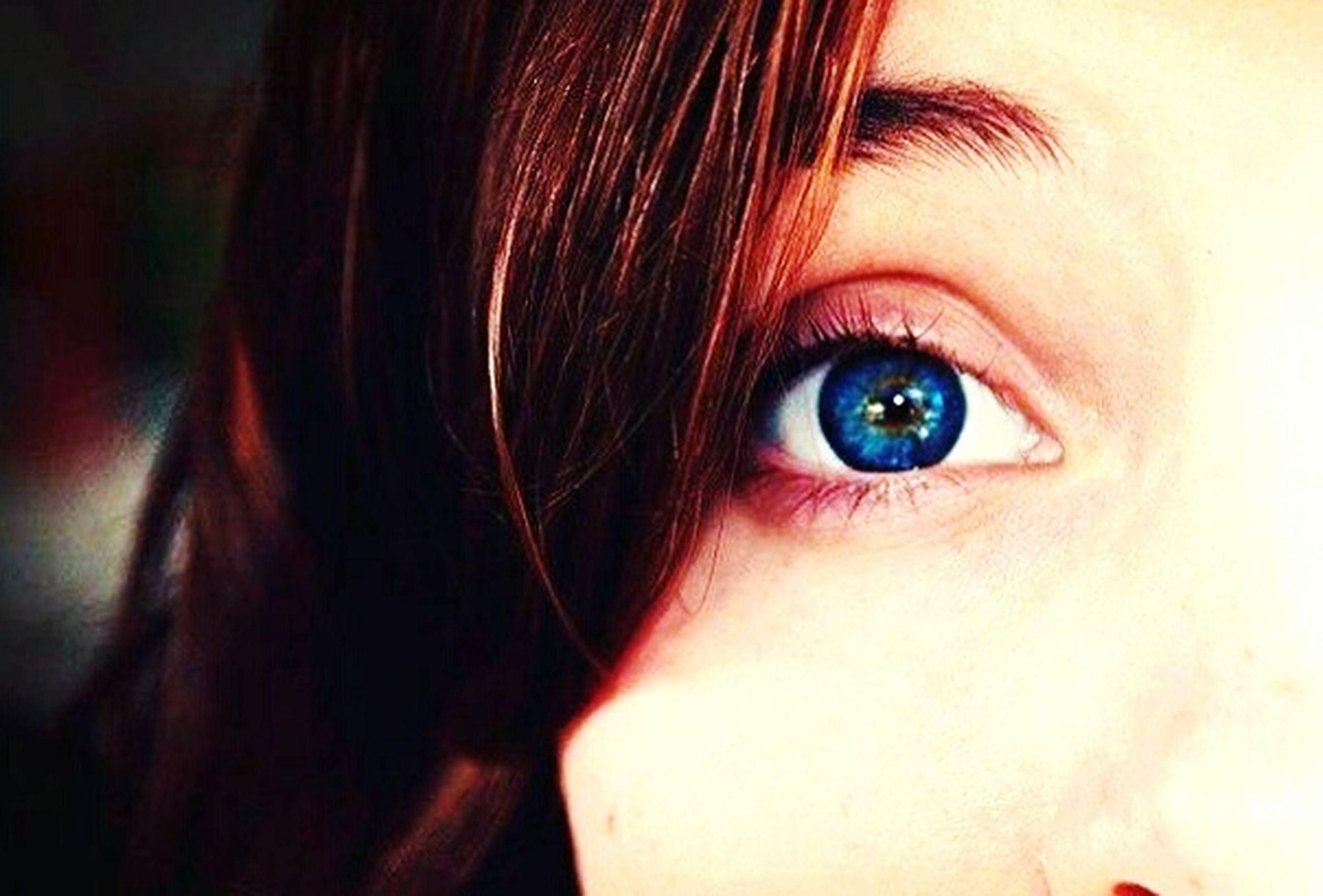 human eye, close-up, looking at camera, human body part, eye, one person, portrait, blue eyes, child, eyebrow, iris - eye, eyelash, eyesight, childhood, people, one teenage girl only, eyeball, adult, young adult, young women, indoors, day