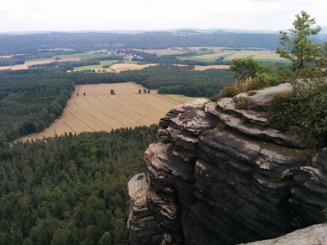 War eine Unglaublich schöne Aussicht dort! Lilienstein Aussicht Felsen Hammer