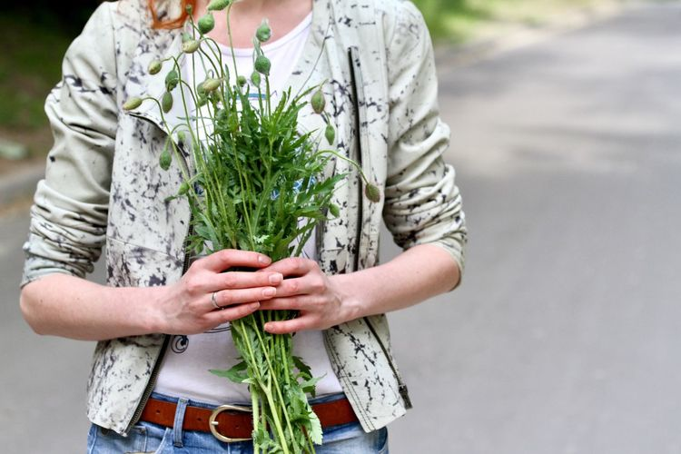 Holding bouquet of poppy buds Vegetable Front View Holding Freshness One Person Outdoors Human Hand Healthy Eating Day Human Body Part Bouquet Nature People Adult Close-up Young Adult Adults Only Place Of Heart Poppy Season Holding Flowers EyeEm Selects EyeEm Selects