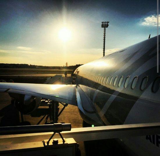 In The Terminal Istanbul Ataturk Airport Evening