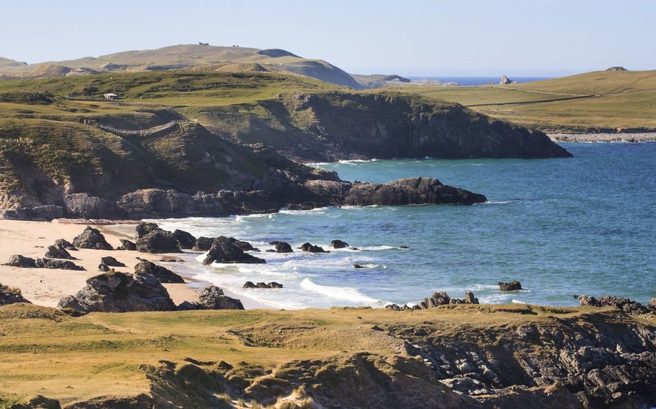 Seascape in Duness Beach Beachphotography Beachside Beauty In Nature Day Durness Durness, UK Landscape Mountain Nature Nature No People Outdoors Scenics Scotland Scottish Highlands Sea Sky