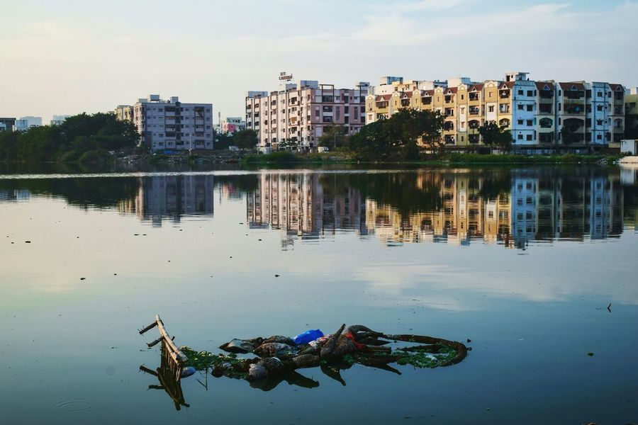 Reflection Lake City Sky Sunset Nature Architecture Finding New Frontiers Architecture Nature Landscape Hyderabad Silhouette Landscapes