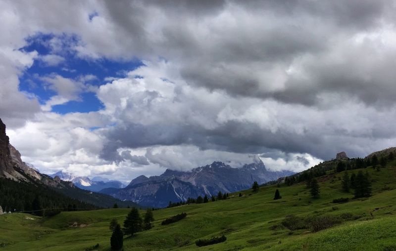 Passo Di Falzarego Mountain Landscape Nature Cloud - Sky South Tyrol Hiking Lost In The Landscape