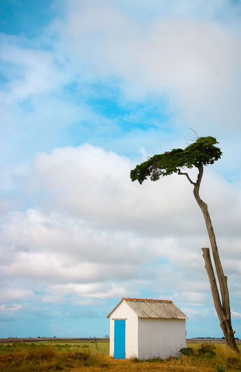 Atlantic Ocean Bretagne Cloudy Architecture Beauty In Nature Blue Building Building Exterior Built Structure Cloud - Sky Day Environment Field Fishing Hut Grass Land Landscape Loire Atlantique Nature No People Outdoors Plant Sky Tranquility Tree