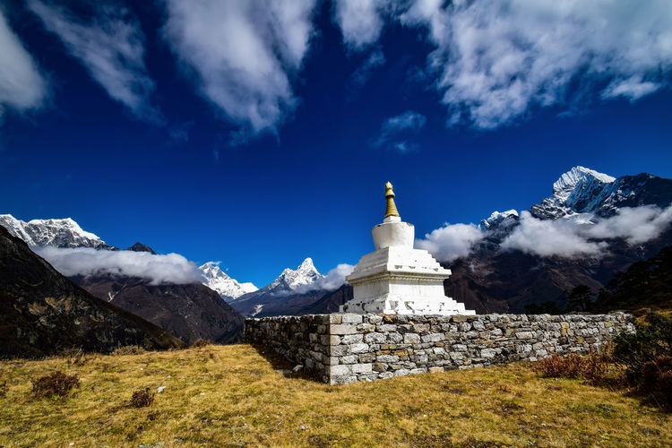 Chorten with ama dablam in the background