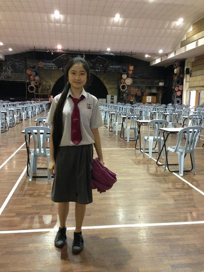 Last day wear long school uniform . Goodbye secondary school life. Last Day Of School December Exam Is Over Monday
