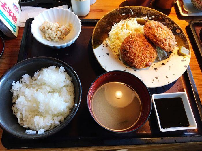 やまやの1日30食限定メンチカツ定食😋❤️ SoDelicious Yamaya Mentaiko Seasonedcodroe Minced Meat Cutlet Iidabashi Tokyo,Japan
