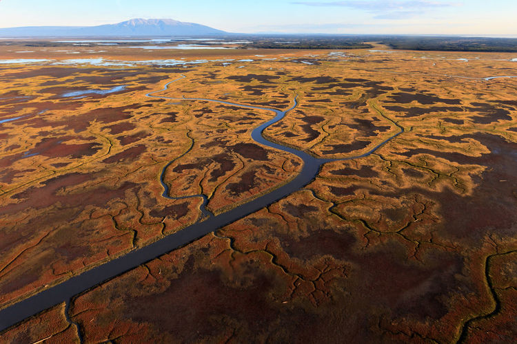 Alaskan marshland A Bird's Eye View Aerial View Alaska Beauty In Nature Mountain Nature Outdoors Scenics Sky Tranquil Scene Travel Destinations