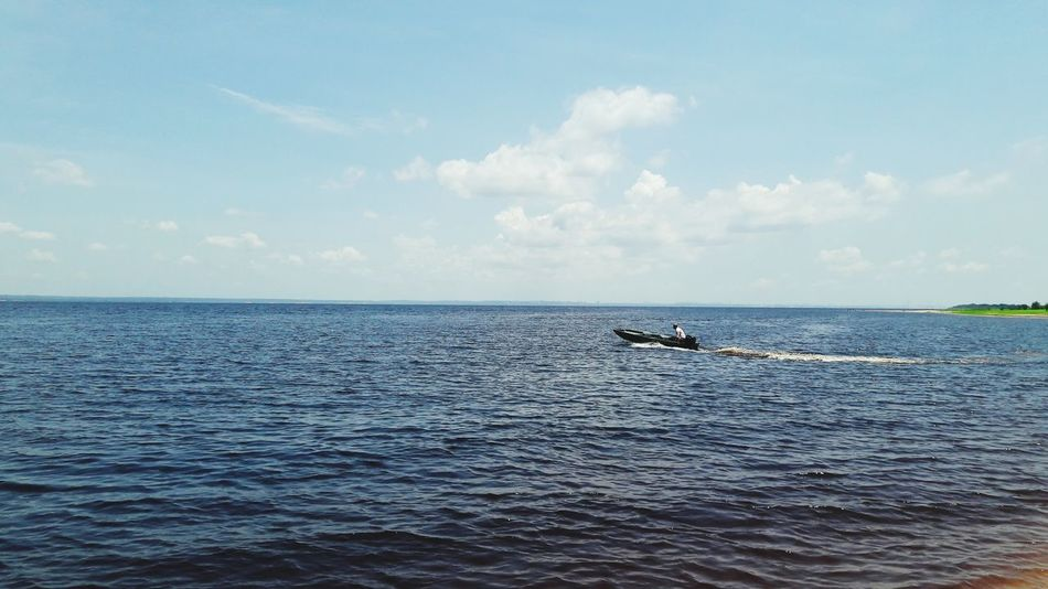 Horizon Over Water Cloud - Sky Sky Blue Nature One Person Rio Negro Amazonas-Brasil Iranduba Tranquil Scene Beauty In Nature Landscape