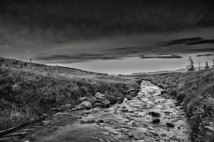 Blackandwhite Cloud - Sky Cold Temperature Nature Nd Outdoors Sky Tranquil Scene Tranquility Water