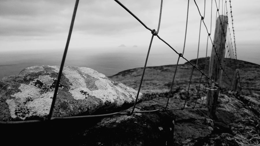 The Great Outdoors With Adobe Ballinskelligs Waterville, Irland, County Kerry Islandsinthesea Black And White Fences & Beyond