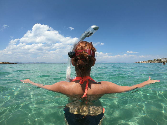 Summer GoProhero6 Snorkeling Adult Beauty In Nature Cloud - Sky Dive Hair Hairstyle Holiday Horizon Over Water Human Arm Leisure Activity Lifestyles Nature One Person Outdoors Real People Rear View Scenics - Nature Sea Sky Summervibes Trip Vacations Water The Great Outdoors - 2018 EyeEm Awards The Traveler - 2018 EyeEm Awards EyeEmNewHere The Creative - 2018 EyeEm Awards