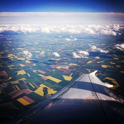 Fin du weekend Flying Plane Travel Photography From An Airplane Window France Airplaneview Sony Xperia Z3