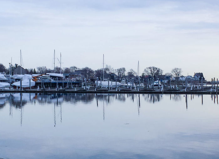 A bike ride on the East Bay bike path in East Providence. Harbor Boats Marina Stillness Water Reflections Serenity East Providence Rhode Island