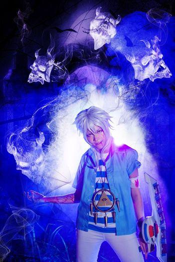 Bakura | Yugioh One Person Adults Only People Night Portrait Smoke Flash Manipulation Wraith Spirit Bakura Yugioh Cosplay Girl Crossplay The Portraitist - 2017 EyeEm Awards